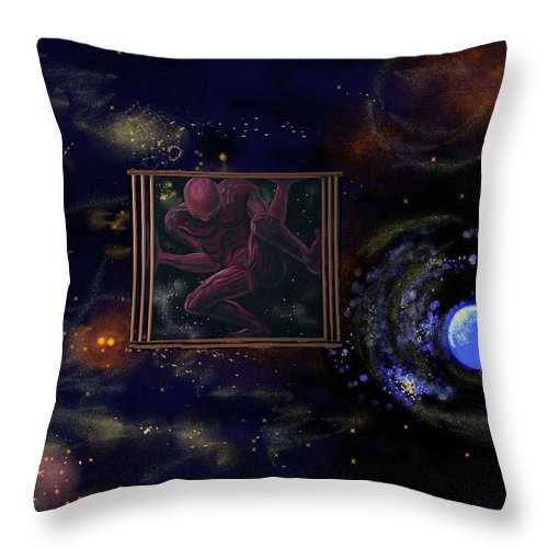 Genio Throw Pillow featuring the digital art Craving For Freedom by Genio GgXpress