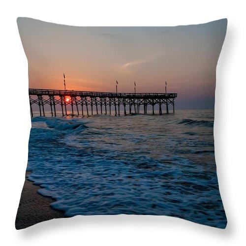 Beach Throw Pillow featuring the photograph Myrtle Beach South Carolina by Alex Grichenko
