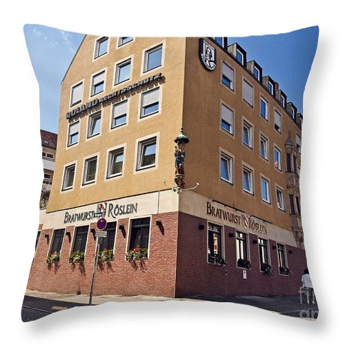 Nurnberg Throw Pillow featuring the photograph Nurnberg Germany by Howard Stapleton