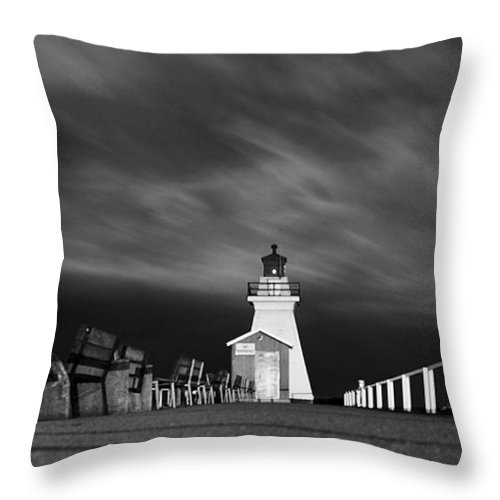 Black& White Throw Pillow featuring the photograph Night Skies. by Tracy Bennett