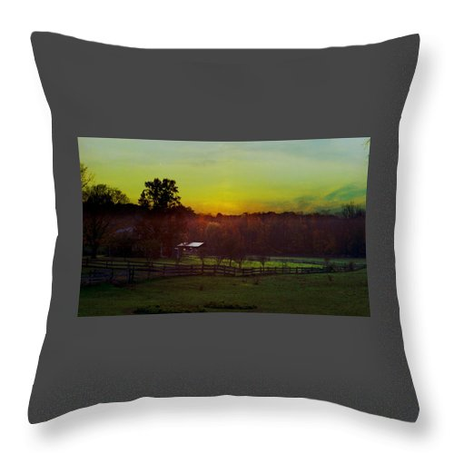 Sunrise Throw Pillow featuring the photograph 101908-1 by Mike Davis