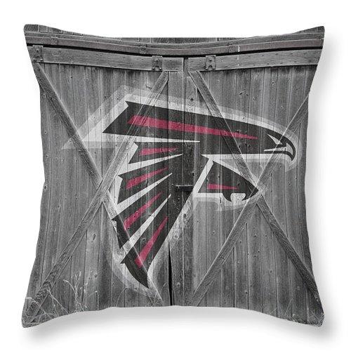 Falcons Throw Pillow featuring the photograph Atlanta Falcons by Joe Hamilton