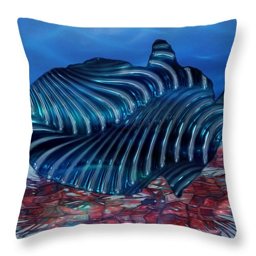 Abstract Throw Pillow featuring the painting Beneath The Waves Series by Jack Zulli