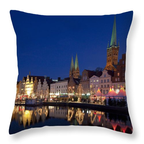 Christmas Throw Pillow featuring the photograph 111130p072 by Arterra Picture Library