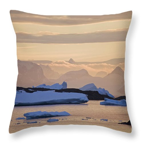 Sunset Throw Pillow featuring the photograph 111130p142 by Arterra Picture Library