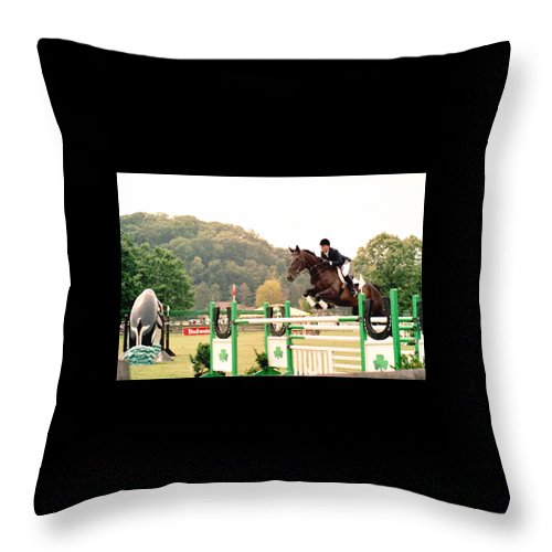 Horse Throw Pillow featuring the photograph 111708-1 by Mike Davis