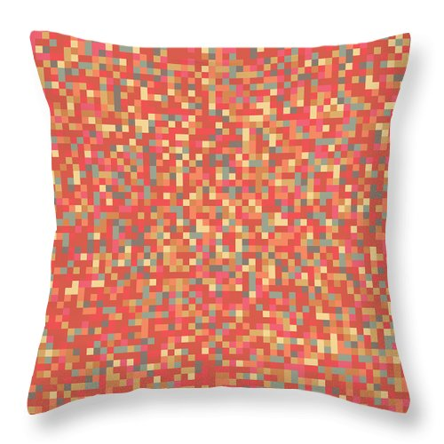 Wallpaper Throw Pillow featuring the digital art Pixel Art by Mike Taylor
