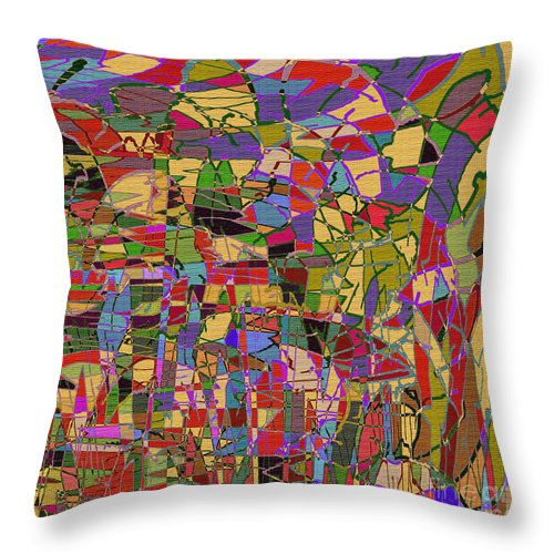 Abstract Throw Pillow featuring the digital art 1144 Abstract Thought by Chowdary V Arikatla