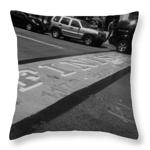 Boston Marathon Throw Pillow featuring the photograph 117th Never Finished by WaLdEmAr BoRrErO
