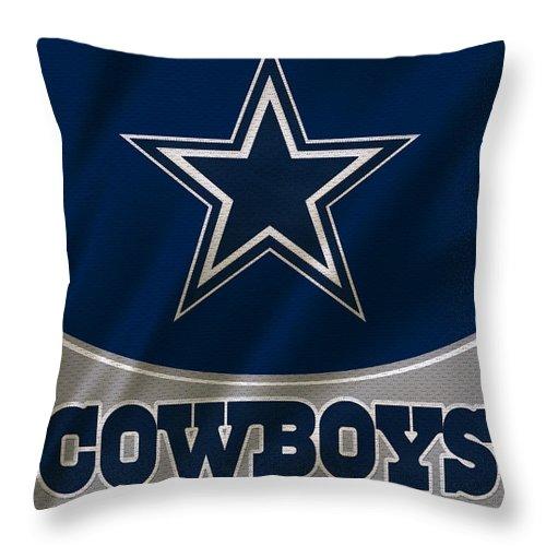 Cowboys Throw Pillow featuring the photograph Dallas Cowboys Uniform by Joe Hamilton