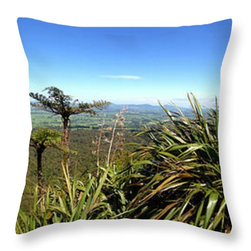 Bush Throw Pillow featuring the photograph New Zealand by Les Cunliffe