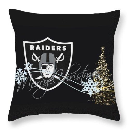 Raiders Throw Pillow featuring the photograph Oakland Raiders 12 by Joe Hamilton