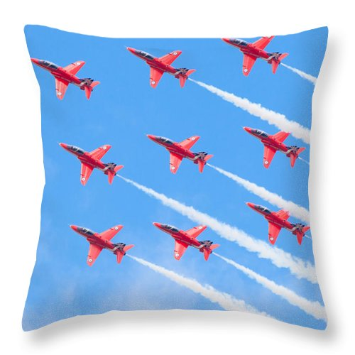 2014 Throw Pillow featuring the photograph Red Arrows by Shaun Wilkinson