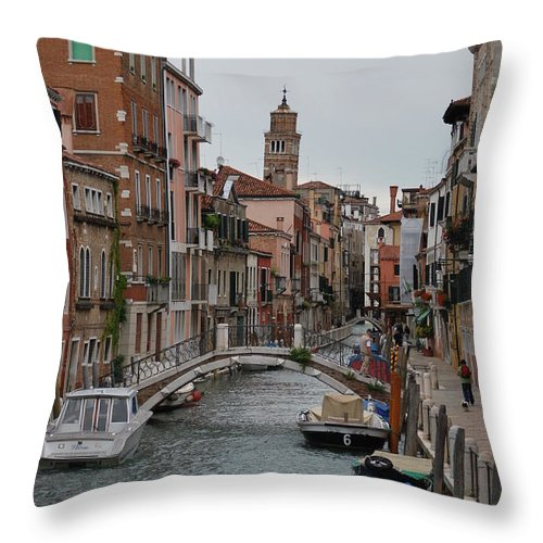 Venice Throw Pillow featuring the photograph Venice Canal by Richard Booth