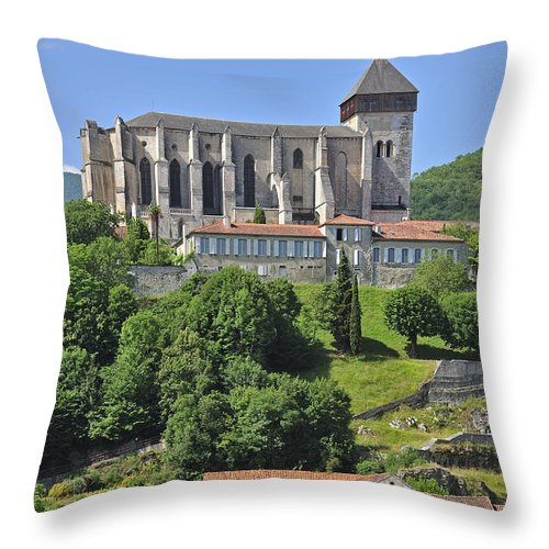 Cathedral Throw Pillow featuring the photograph 120801p292 by Arterra Picture Library