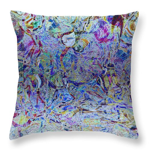 Abstract Throw Pillow featuring the digital art 1222 Abstract Thought by Chowdary V Arikatla
