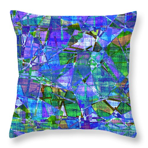 Abstract Throw Pillow featuring the digital art 1289 Abstract Thought by Chowdary V Arikatla
