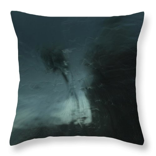 Danica Radman Throw Pillow featuring the digital art Even Kids Did Not Go Out To Play by Danica Radman