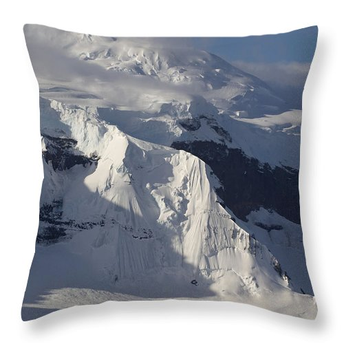 Glacier Throw Pillow featuring the photograph Antarctica by John Shaw