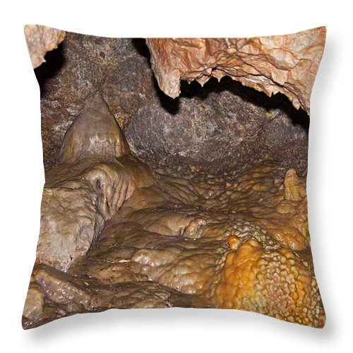 Autumn Throw Pillow featuring the photograph Jewel Cave Jewel Cave National Monument by Fred Stearns