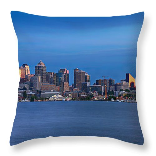 Seattle Throw Pillow featuring the photograph Seattle by Paul Fell