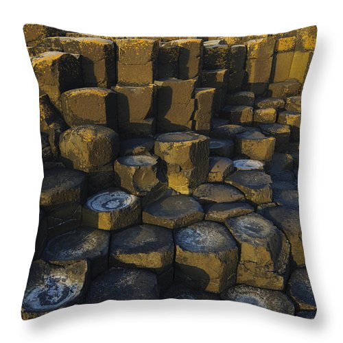 Landscape Throw Pillow featuring the photograph The Giants Causeway by John Shaw
