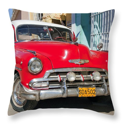 Red Throw Pillow featuring the photograph 130215p067 by Arterra Picture Library
