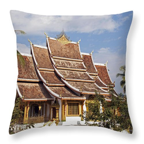 Royal Palace Throw Pillow featuring the photograph 130215p135 by Arterra Picture Library