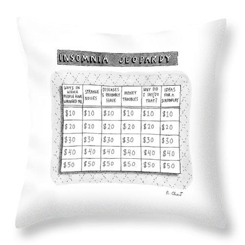 Insomnia Jeopardy Throw Pillow