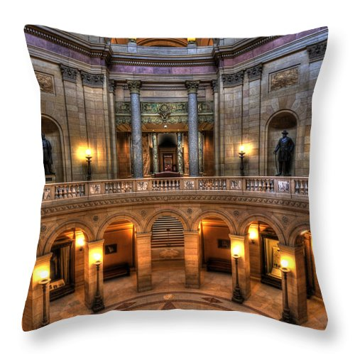 Minnesota State Capitol Throw Pillow featuring the photograph Minnesota State Capitol by Amanda Stadther