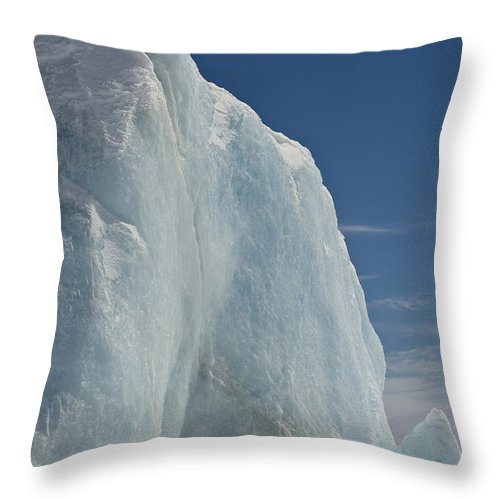 Pack Ice Throw Pillow featuring the photograph Pack Ice, Antarctica by John Shaw
