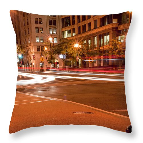 Street Throw Pillow featuring the photograph 1400 New York Downtown Dc by Joe Russell