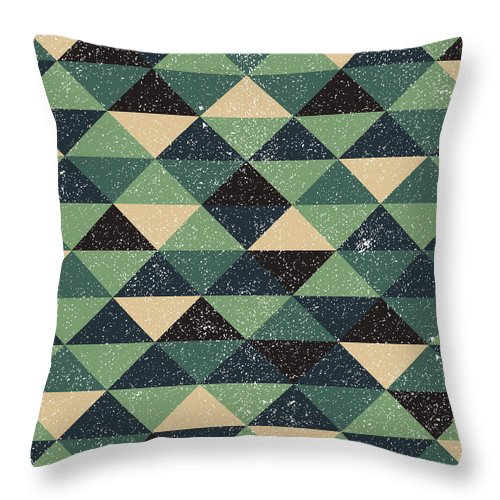 Pixel Throw Pillow featuring the digital art Pixel Art by Mike Taylor