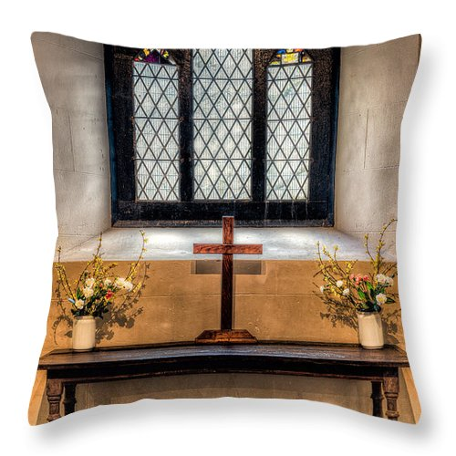 14th Century Throw Pillow featuring the photograph 14th Century Chapel by Adrian Evans