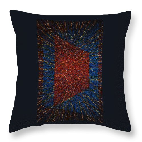 Inspirational Throw Pillow featuring the painting Mobius Band by Kyung Hee Hogg