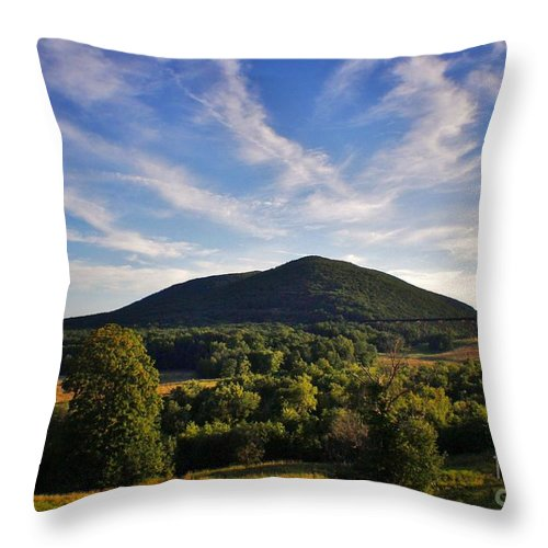Throw Pillow featuring the photograph Moodna Viaduct Trestle by Chet B Simpson