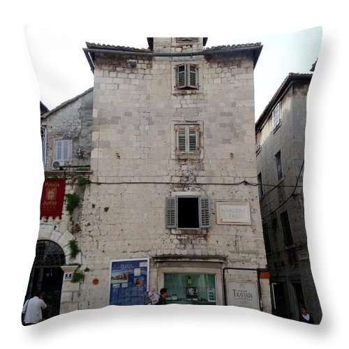 Mediterranean Throw Pillow featuring the photograph Views Of Split Croatia by Richard Rosenshein