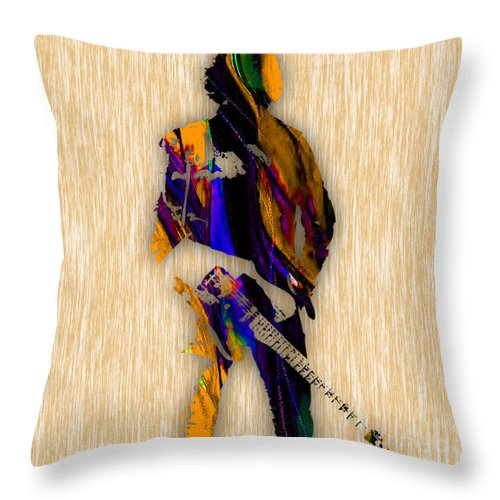 Bruce Springsteen Art Throw Pillow featuring the mixed media Bruce Springsteen by Marvin Blaine