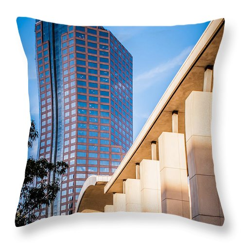 District Throw Pillow featuring the photograph Skyline Of Uptown Charlotte North Carolina by Alex Grichenko