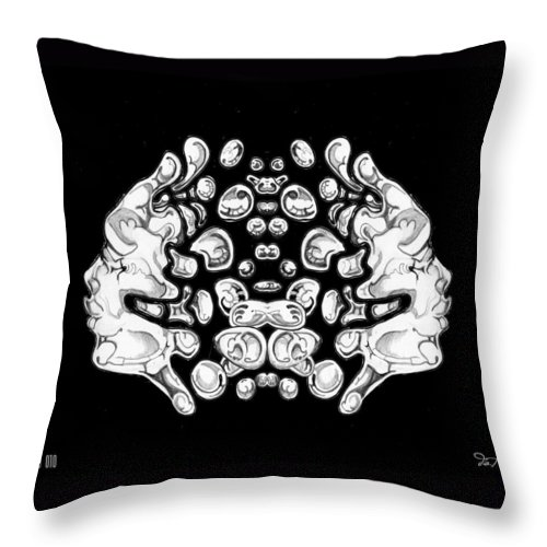 Science Fiction Throw Pillow featuring the painting 16x20 Blow 010 by Dia T