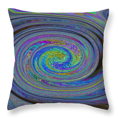 Digital Throw Pillow featuring the digital art Digital Art Abstract by David Pyatt