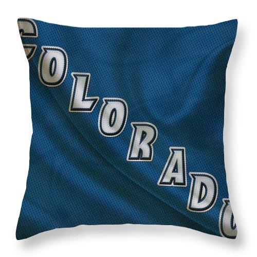 Avalanche Throw Pillow featuring the photograph Colorado Avalanche by Joe Hamilton