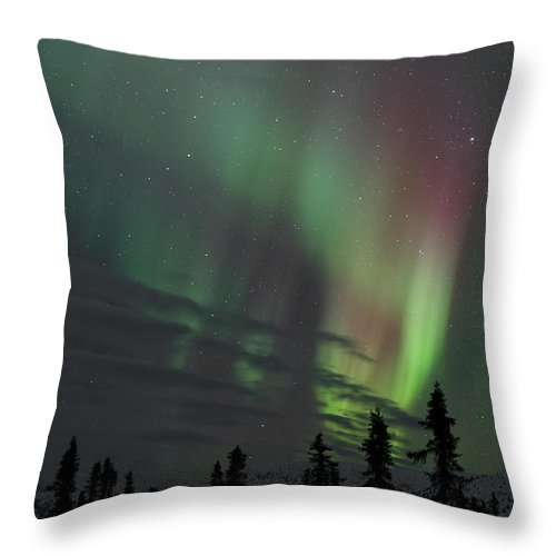 Science Throw Pillow featuring the photograph The Aurora Borealis by John Shaw