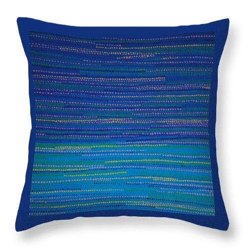 Inspirational Throw Pillow featuring the painting Identity by Kyung Hee Hogg
