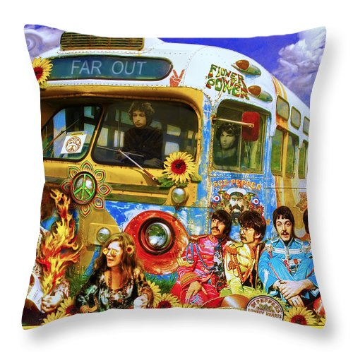 1967 Throw Pillow featuring the photograph 19 Sixty 7 by John Anderson
