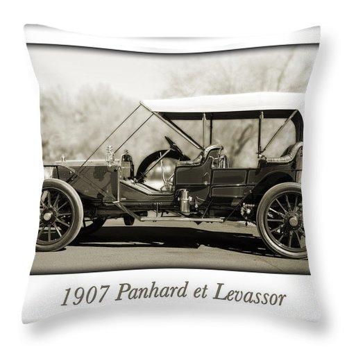 1907 Panhard Et Levassor Throw Pillow featuring the photograph 1907 Panhard Et Levassor by Jill Reger