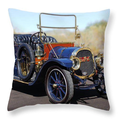1910 Pope Hartford Model T Throw Pillow featuring the photograph 1910 Pope Hartford Model T by Jill Reger