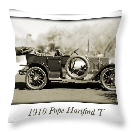 1910 Pope Hartford T Throw Pillow featuring the photograph 1910 Pope Hartford T by Jill Reger