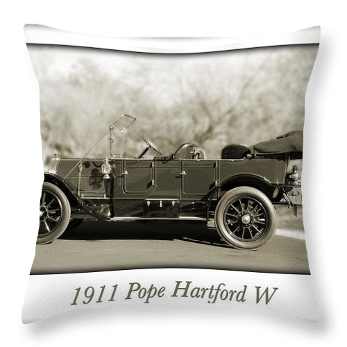 1911 Pope Hartford W Throw Pillow featuring the photograph 1911 Pope Hartford W by Jill Reger