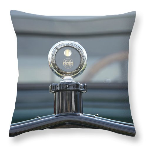 1917 Throw Pillow featuring the photograph 1917 Winton Six by Jack R Perry